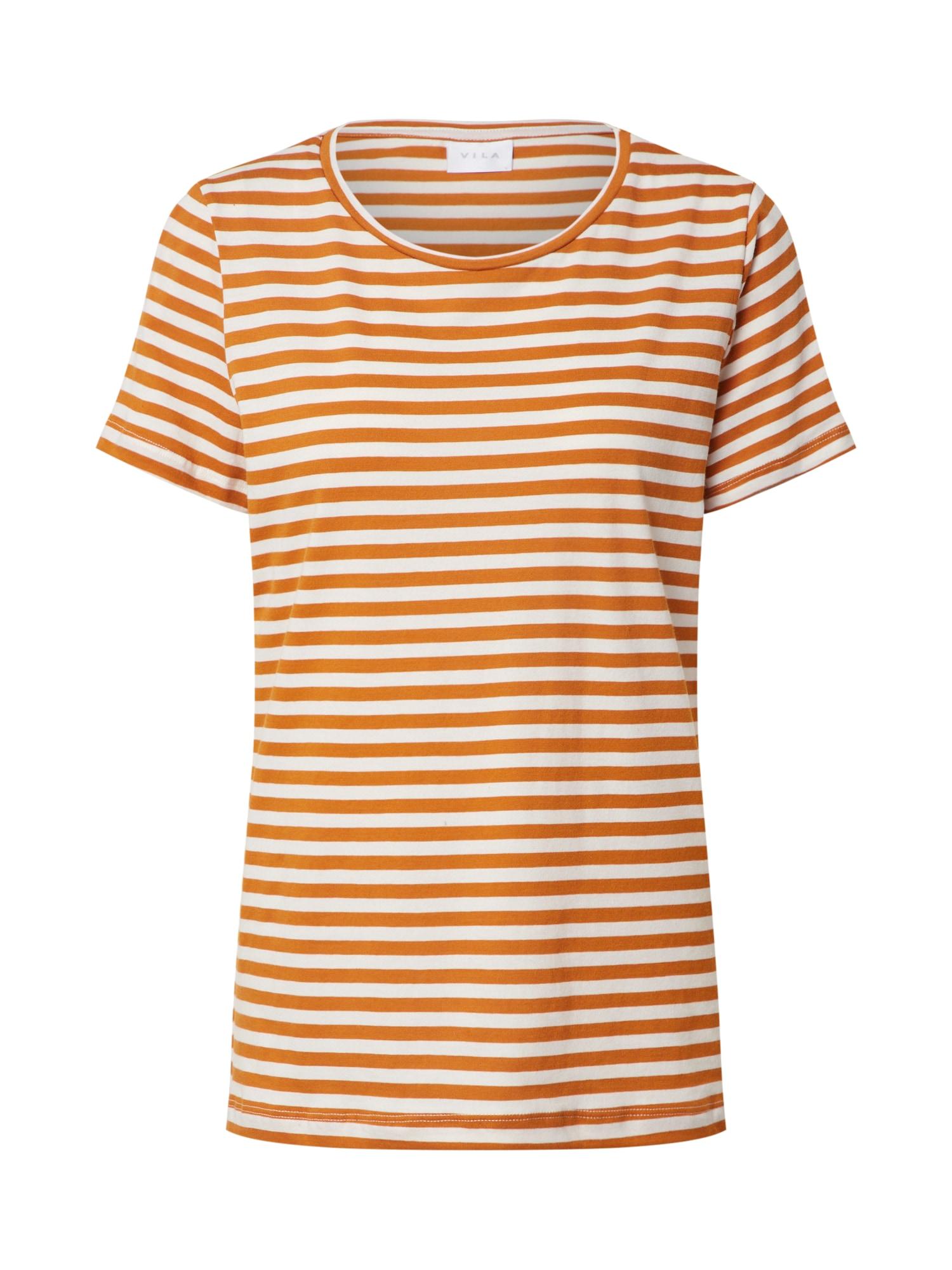 VILA Póló 'VISUS'  narancs / fehér