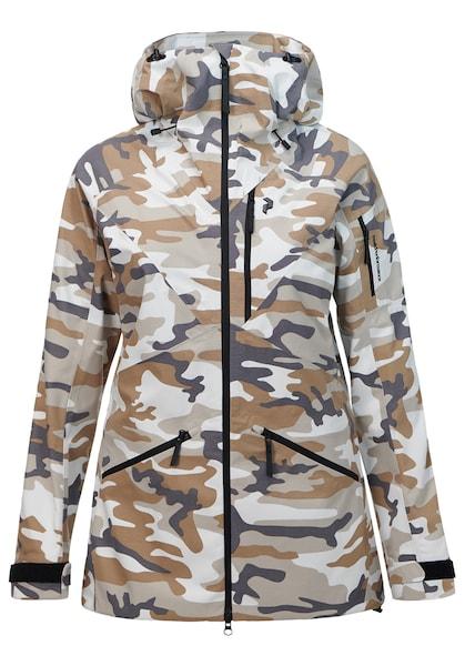 Jacken für Frauen - PEAK PERFORMANCE Skijacke 'Radical' chamois taupe violettblau weiß  - Onlineshop ABOUT YOU