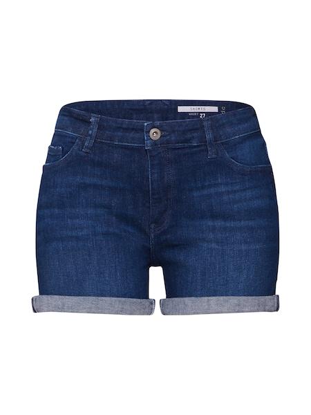 Hosen für Frauen - EDC BY ESPRIT Jeansshorts dunkelblau  - Onlineshop ABOUT YOU