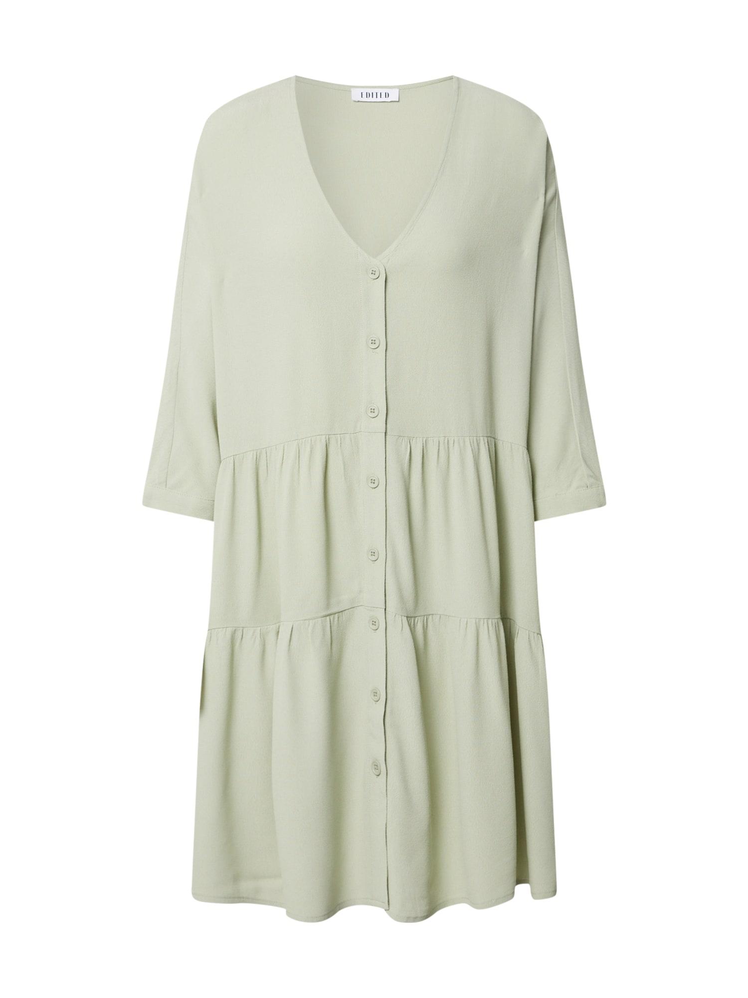 EDITED Palaidinės tipo suknelė pastelinė žalia