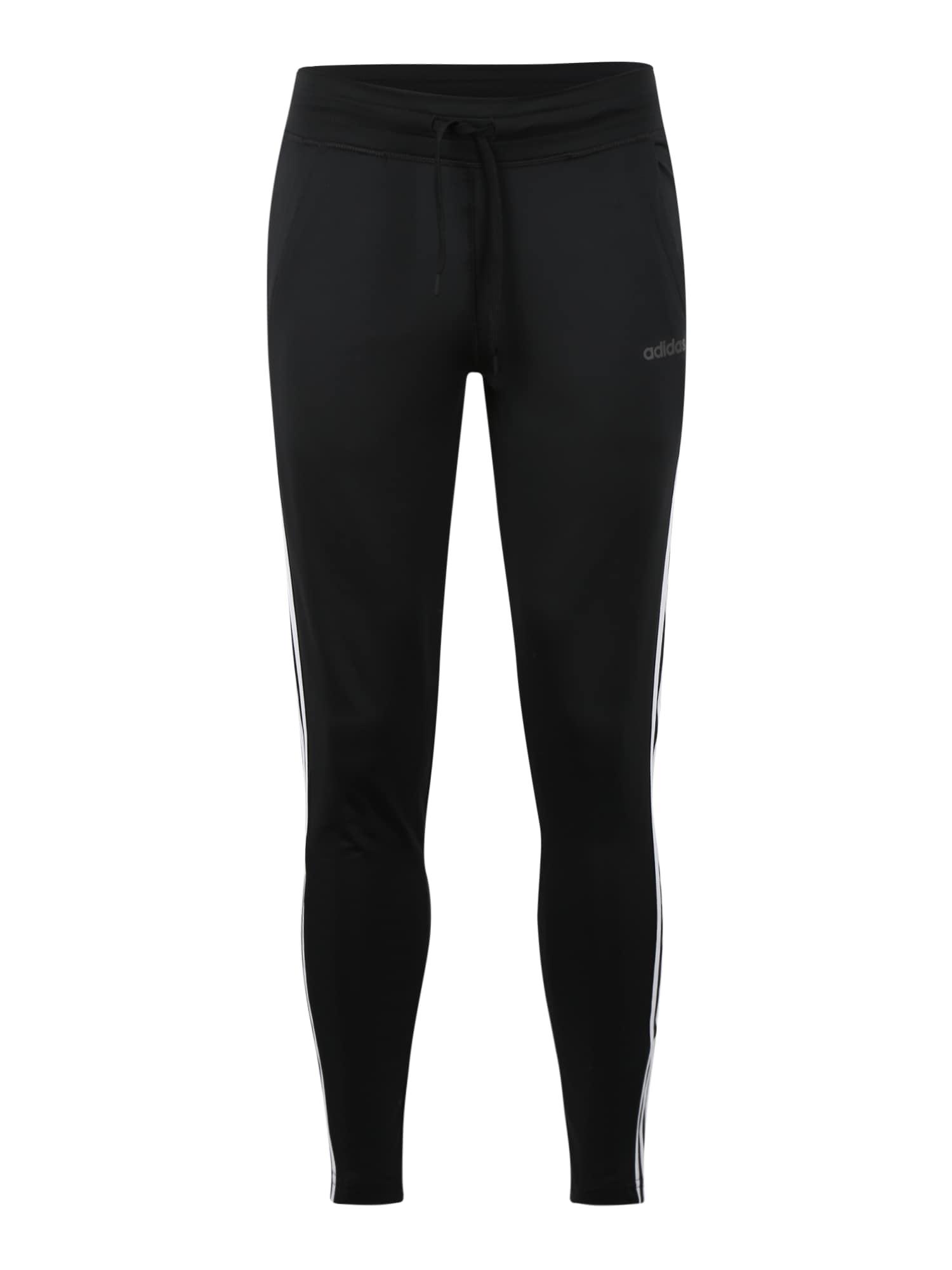 ADIDAS PERFORMANCE Sportinės kelnės 'D2M' balta / juoda