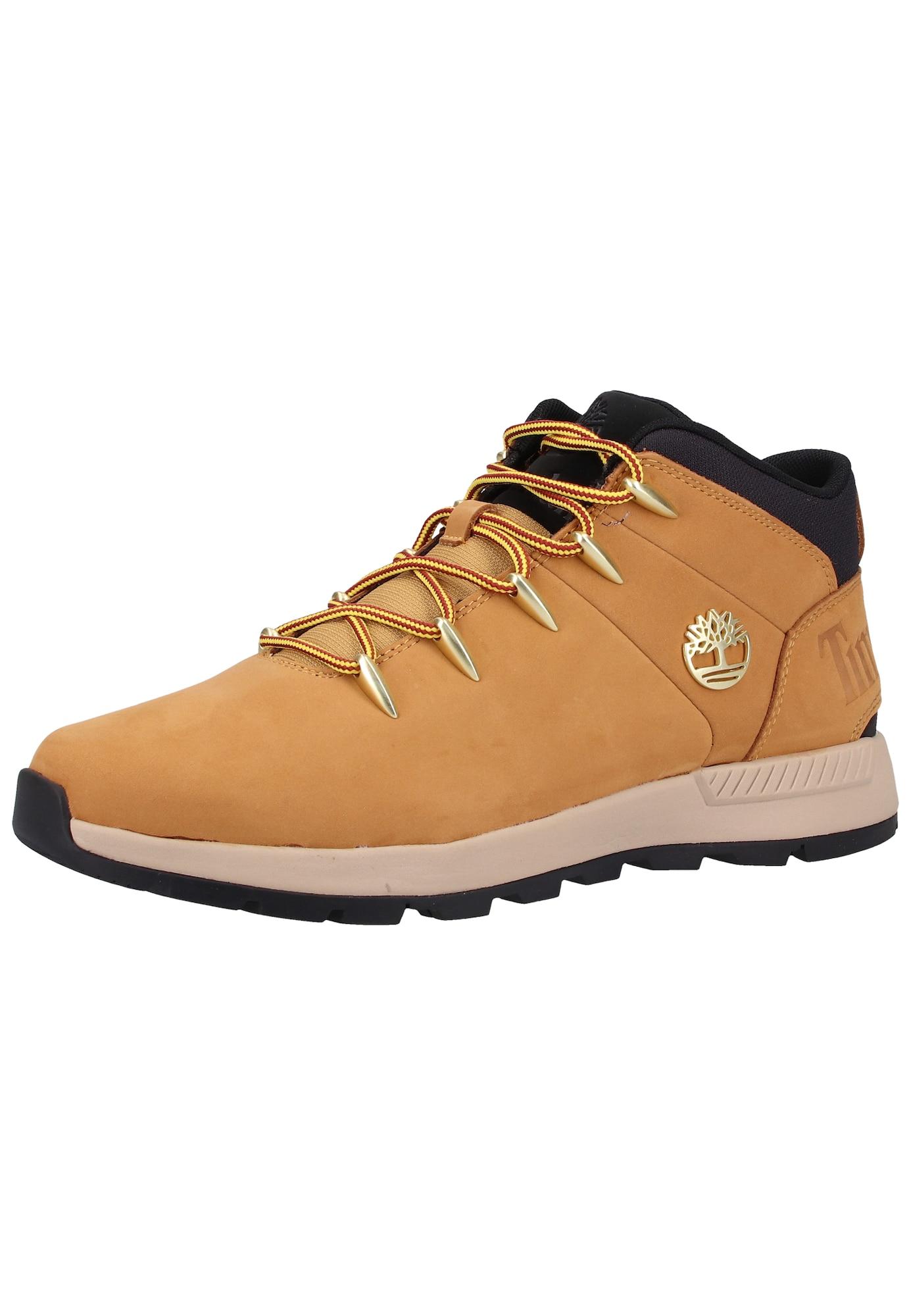 TIMBERLAND Auliniai batai su raišteliais karamelės