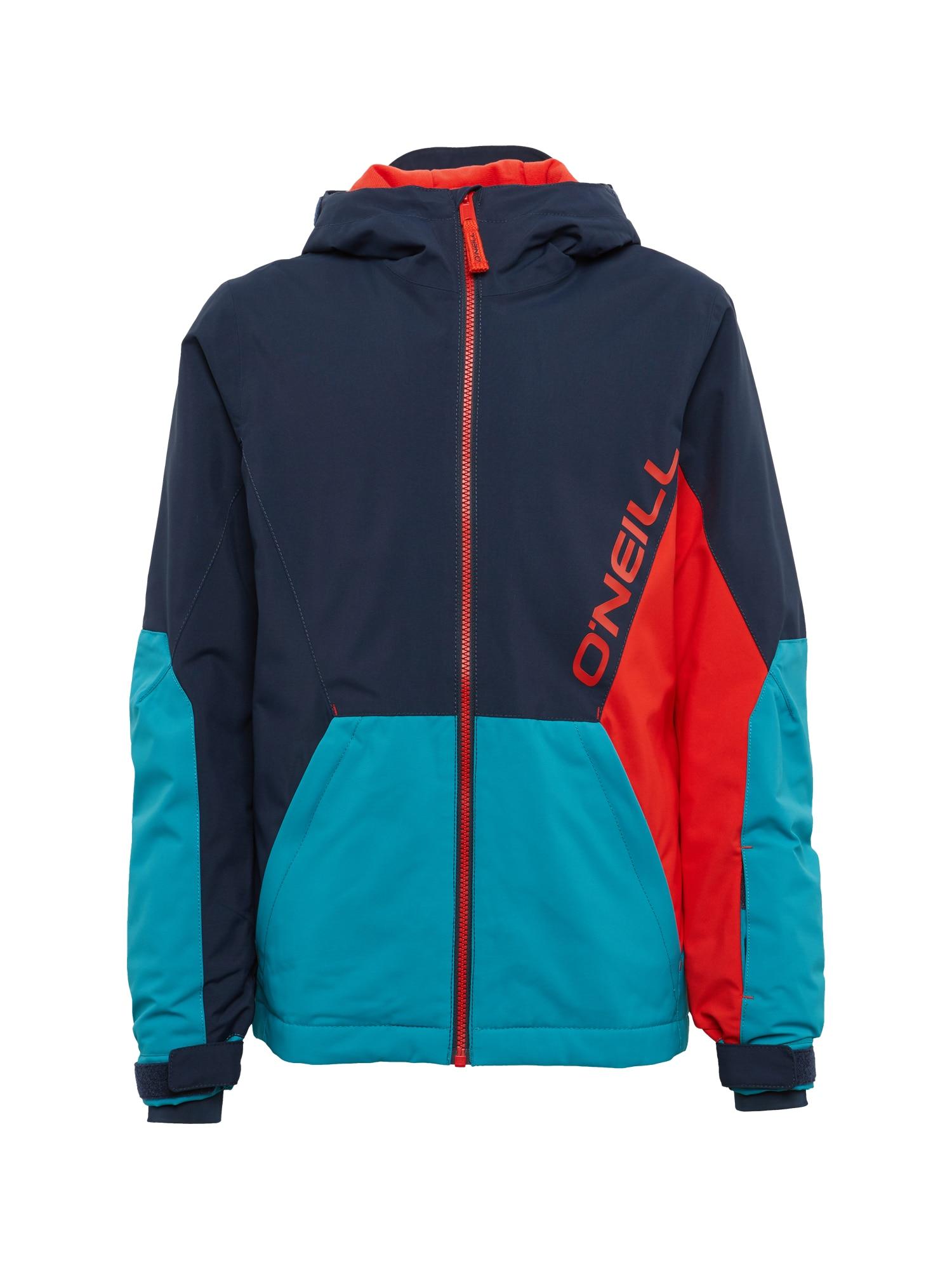 O'NEILL Outdoorová bunda 'PB STATEMENT'  tmavomodrá / petrolejová / červené