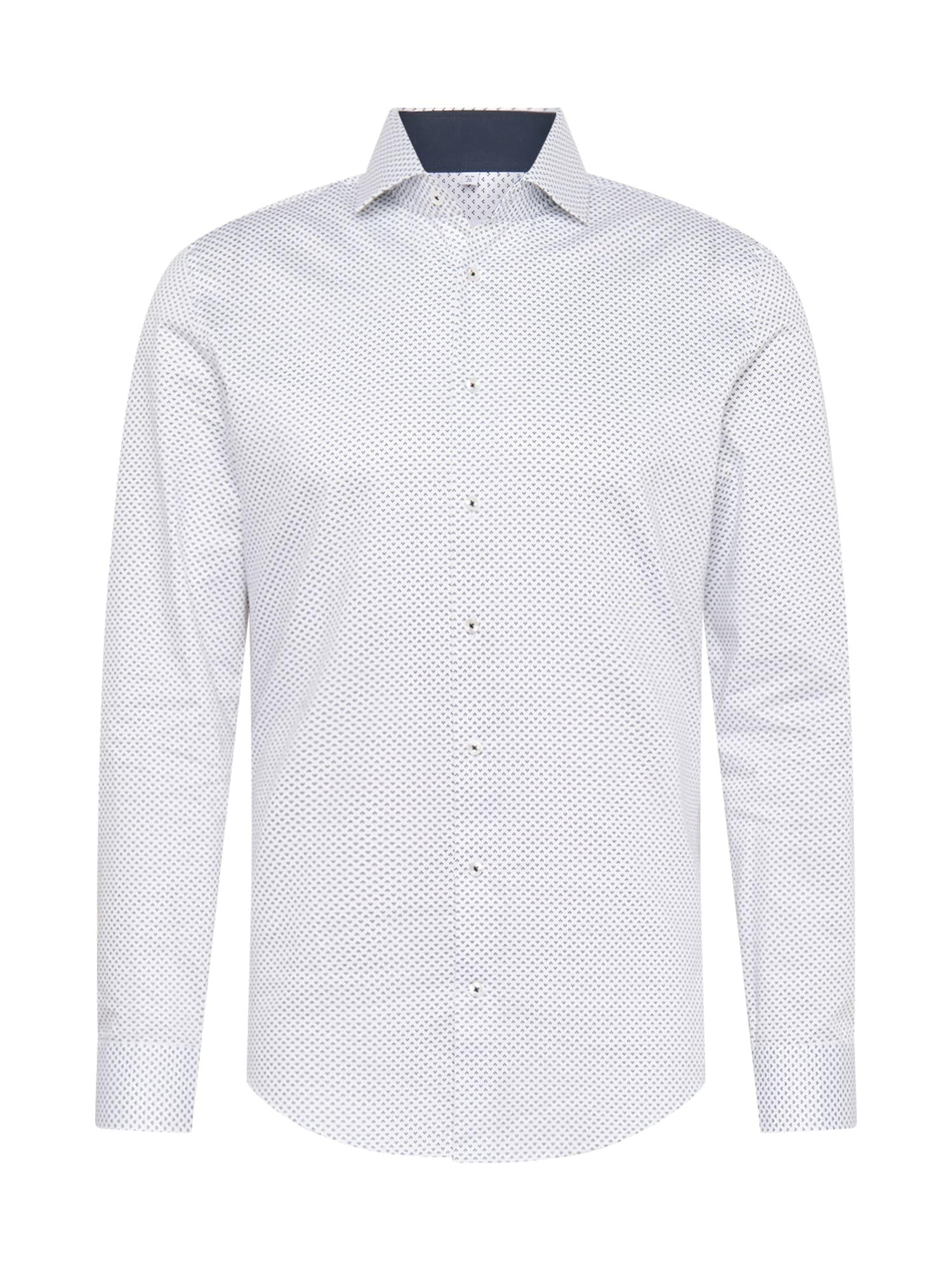 SEIDENSTICKER Dalykinio stiliaus marškiniai balkšva / mėlyna