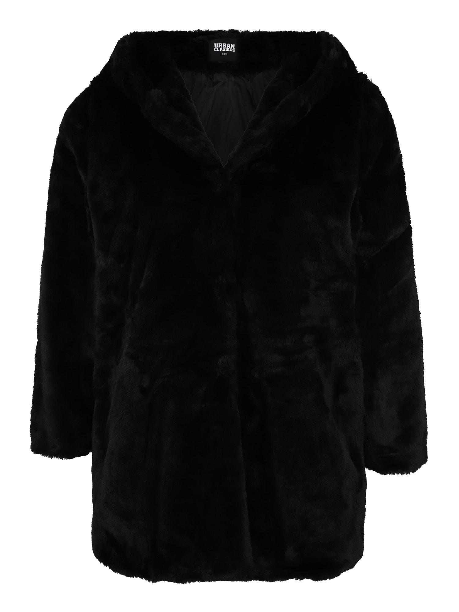 Urban Classics Curvy Demisezoninis paltas juoda