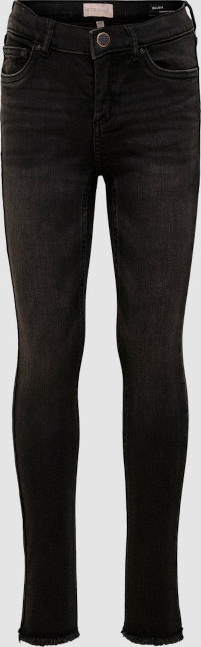 Kids Only Blush Skinny-Jeans mit ausgefranstem Saum