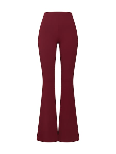 Hosen für Frauen - Missguided Hose 'STRETCH CREPE FLARE TROUSER' burgunder  - Onlineshop ABOUT YOU