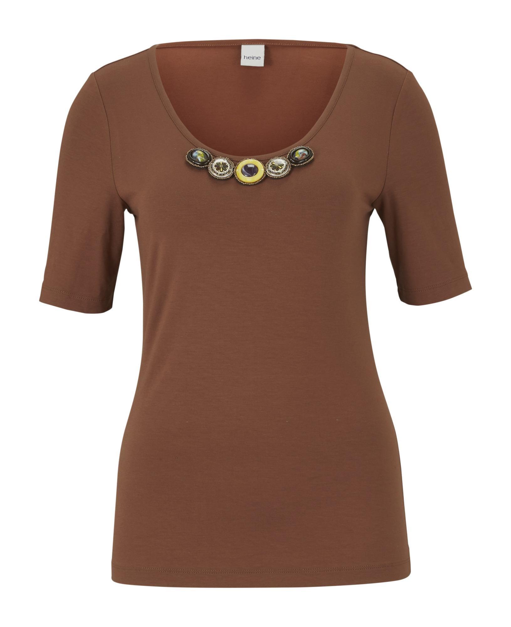 grau-beige Patrizia Dini Designer-Shirt mit Raffungen