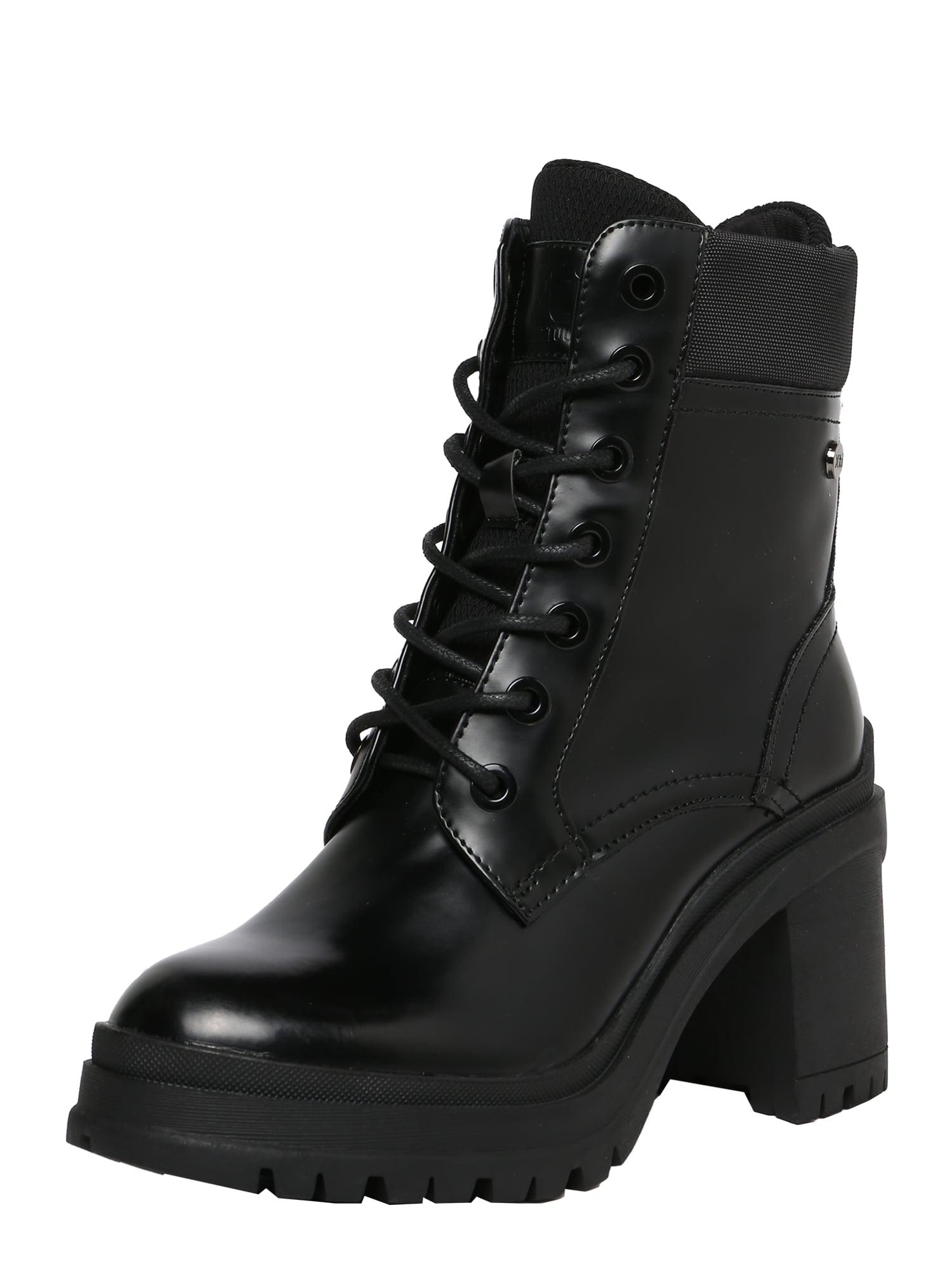 Xti Suvarstomieji kulkšnis dengiantys batai juoda