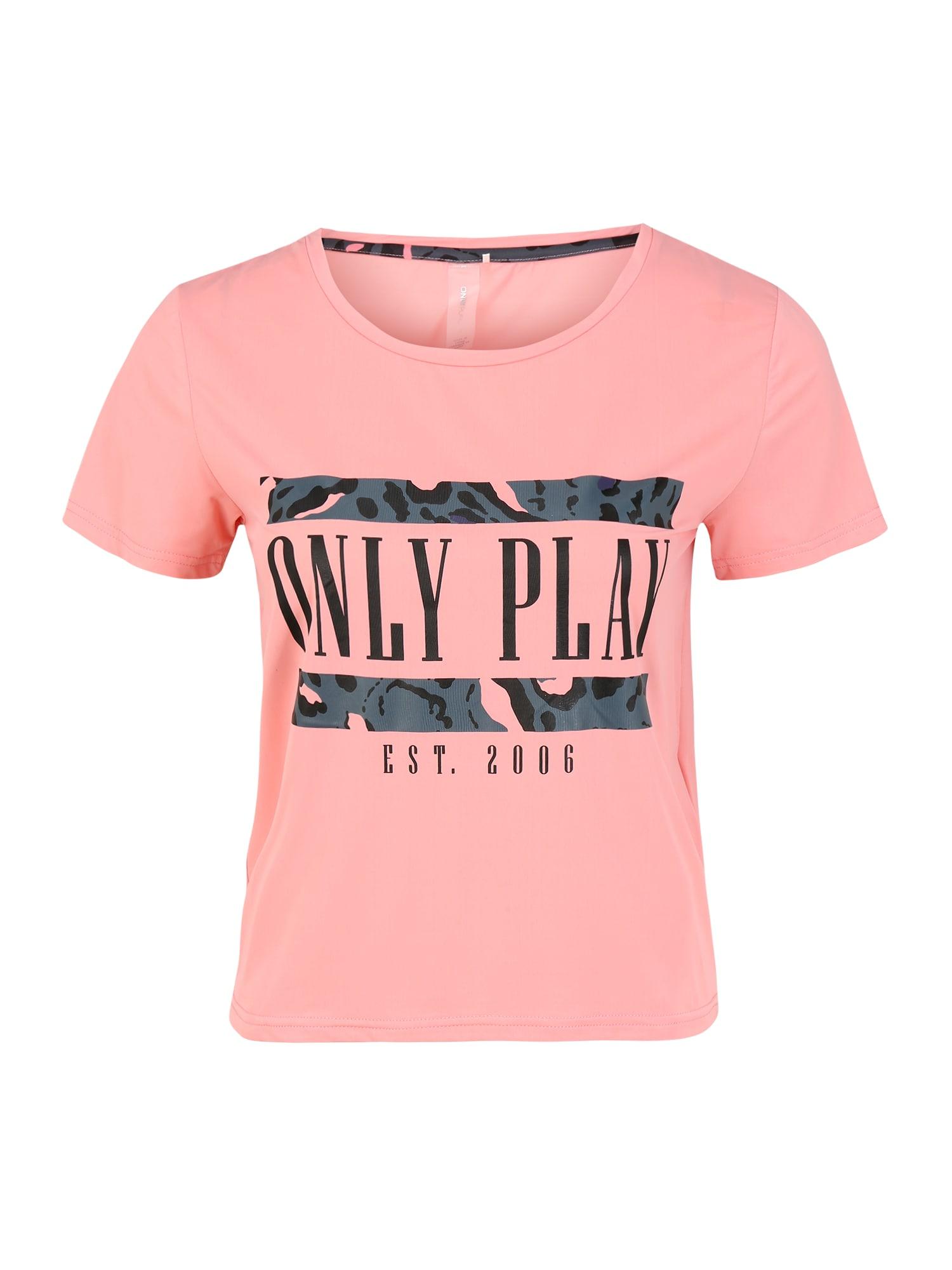 ONLY PLAY Sportiniai marškinėliai 'MARIKA' tamsiai pilka / rožinė