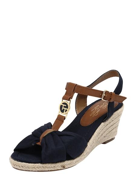 Sandalen für Frauen - TOM TAILOR Keilsandale beige navy braun  - Onlineshop ABOUT YOU