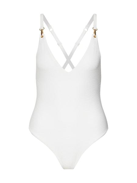 Bademode für Frauen - Hunkemöller Badeanzug 'White Lines BS' weiß  - Onlineshop ABOUT YOU