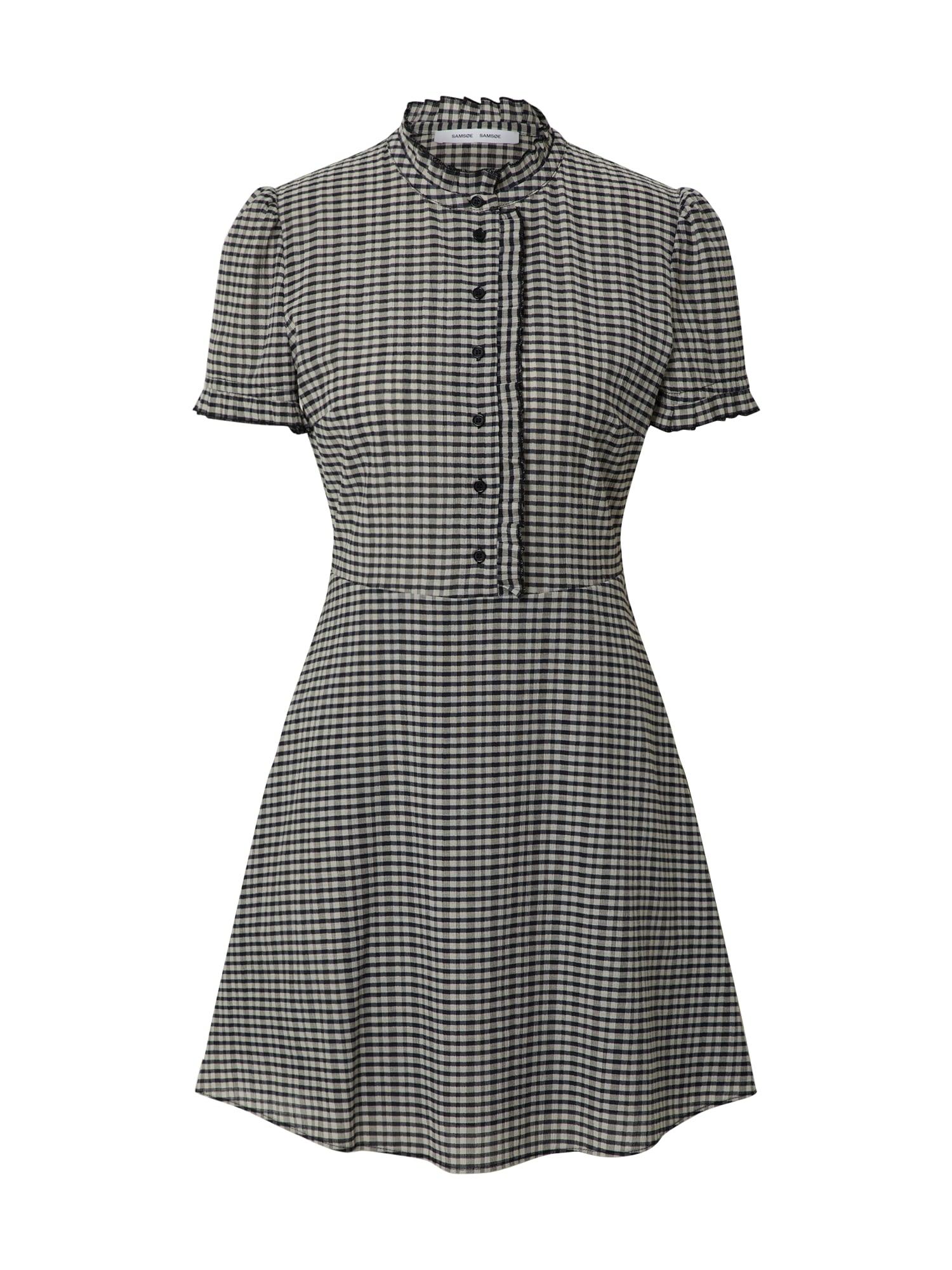 Samsoe Samsoe Košeľové šaty 'Zarani'  biela / čierna