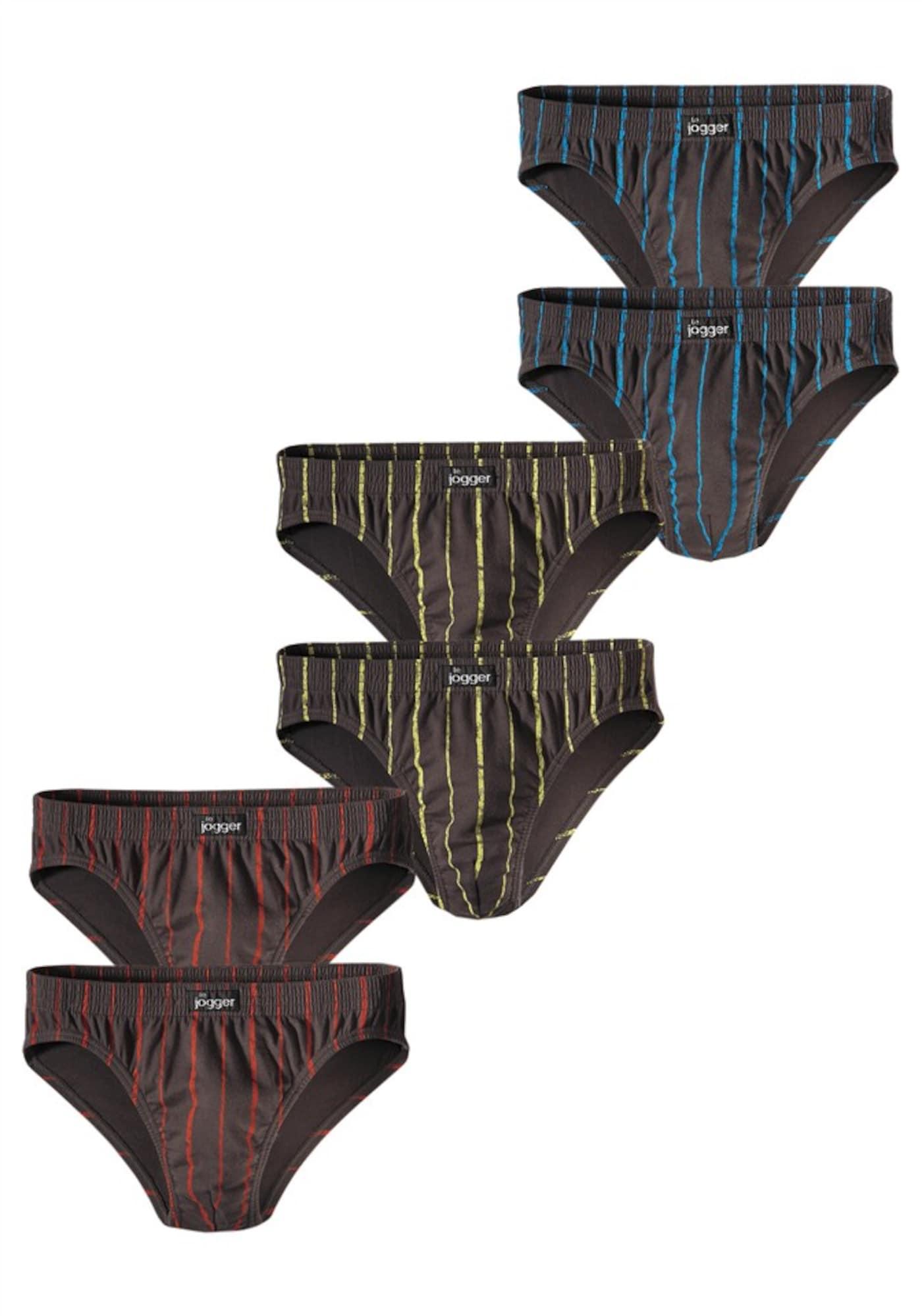 LE JOGGER Vyriškos kelnaitės mėlyna / geltona / tamsiai pilka / raudona