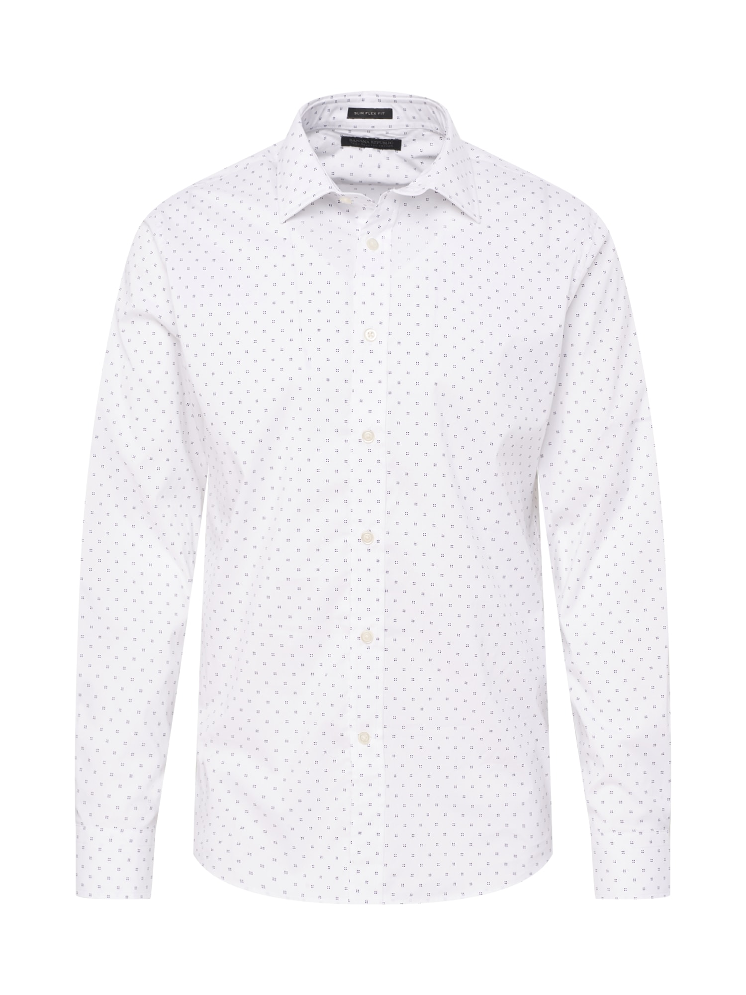 Košile TECH CLUSTER DOT PRINT SPREAD COLLAR bílá Banana Republic