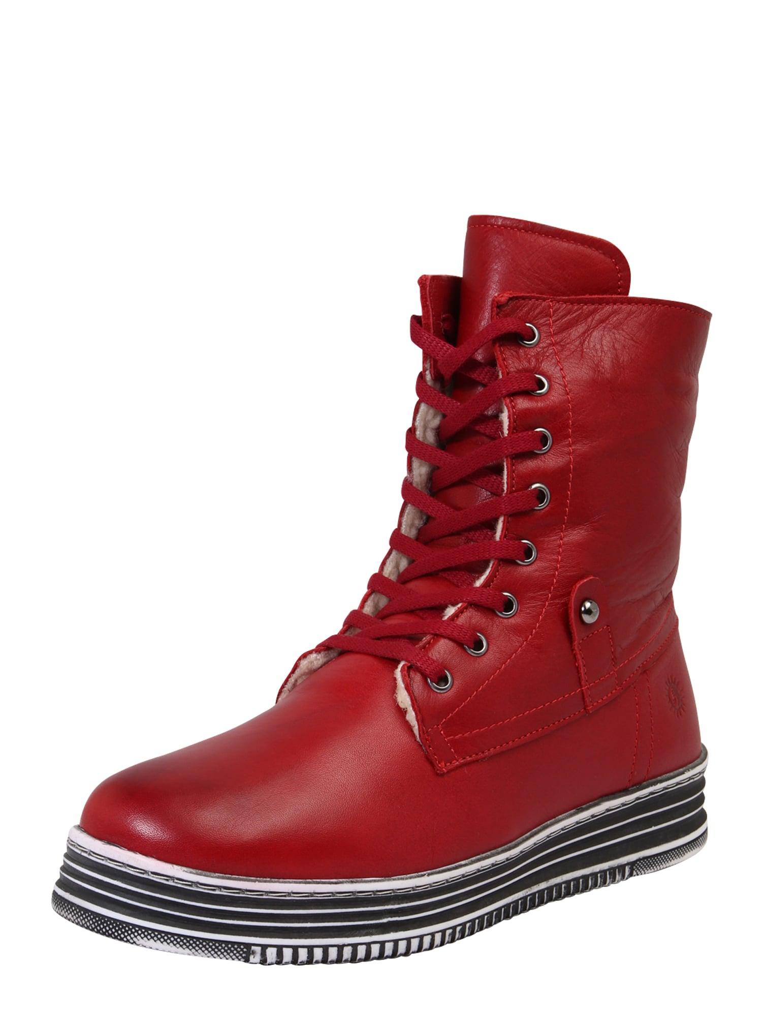 COSMOS COMFORT Suvarstomieji kulkšnis dengiantys batai raudona
