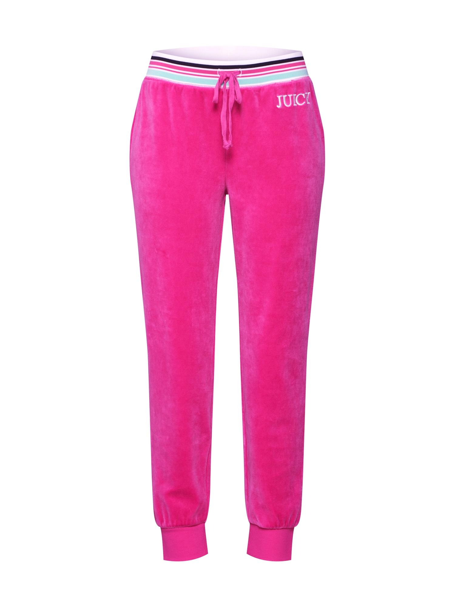 Kalhoty světlemodrá pink černá bílá Juicy Couture Black Label