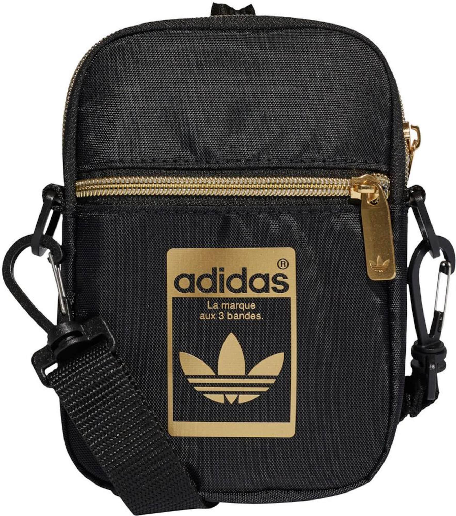 ADIDAS ORIGINALS Rankinė su ilgu dirželiu 'Mini Bag' auksas / juoda
