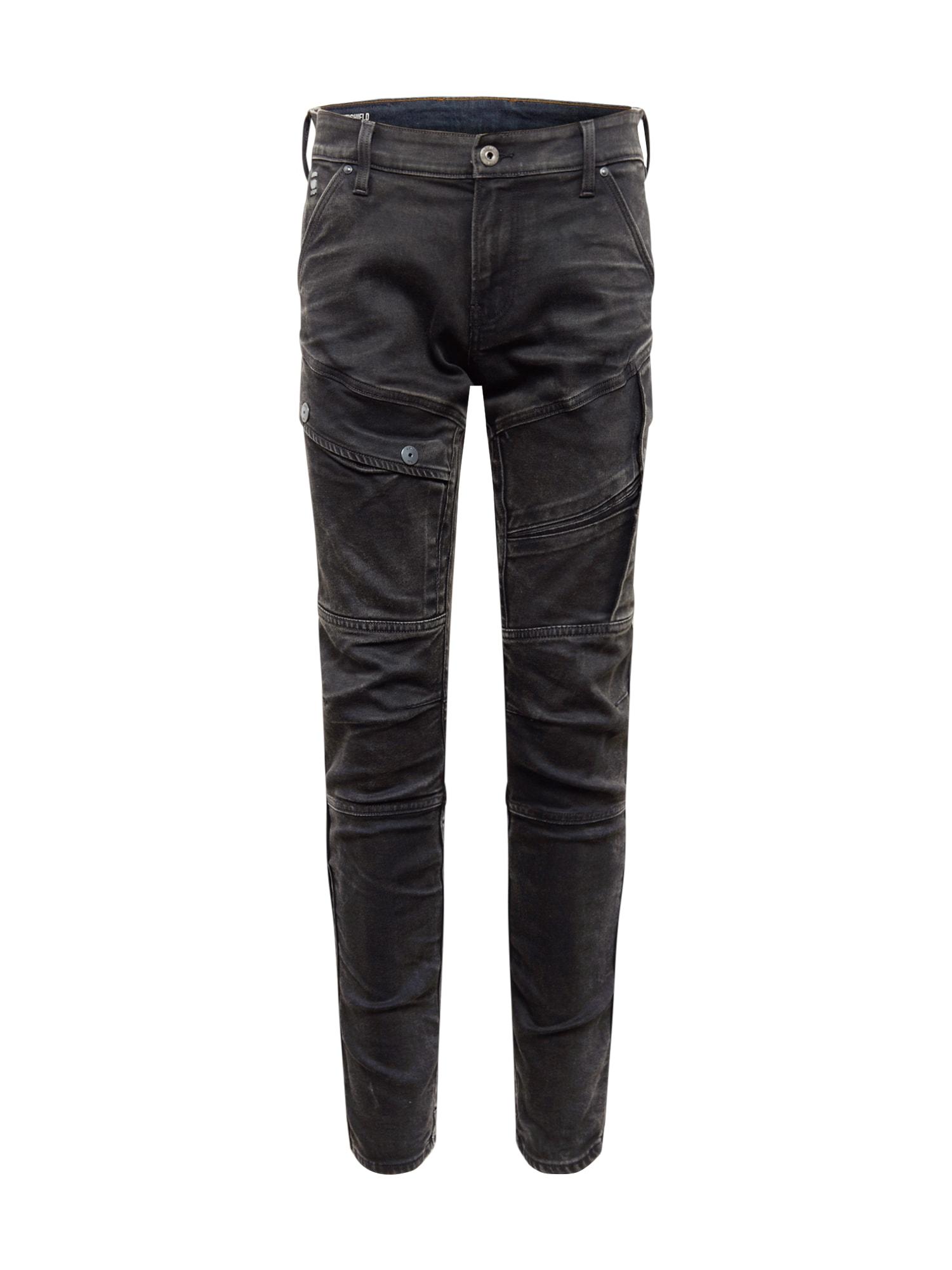 G-Star RAW Darbinio stiliaus kelnės 'Airblaze' juodo džinso spalva