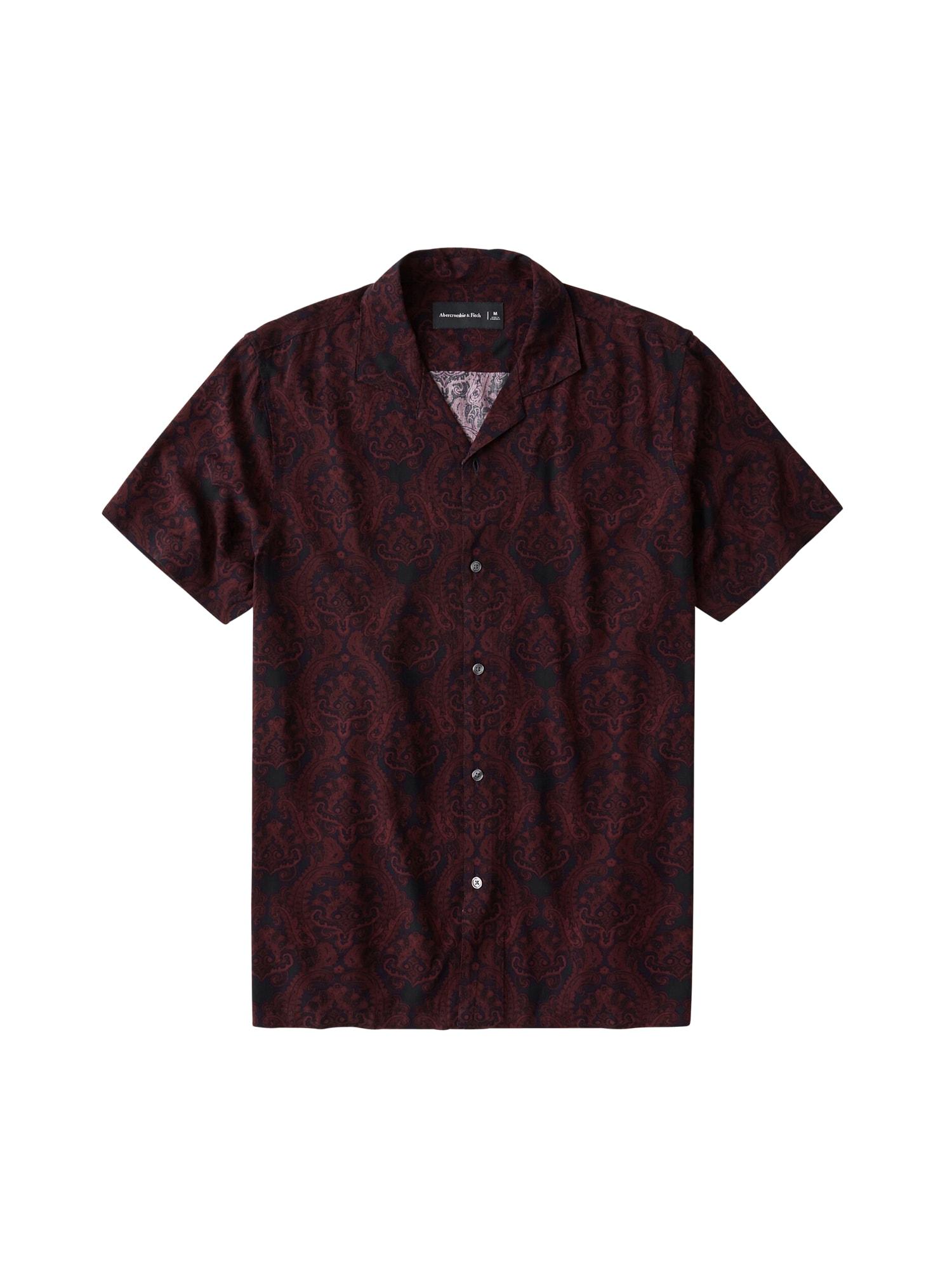 Abercrombie & Fitch Dalykiniai marškiniai burgundiško vyno spalva
