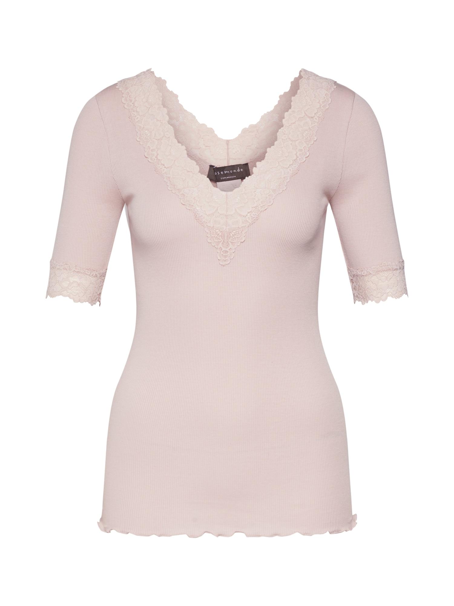 rosemunde Marškinėliai pudros spalva