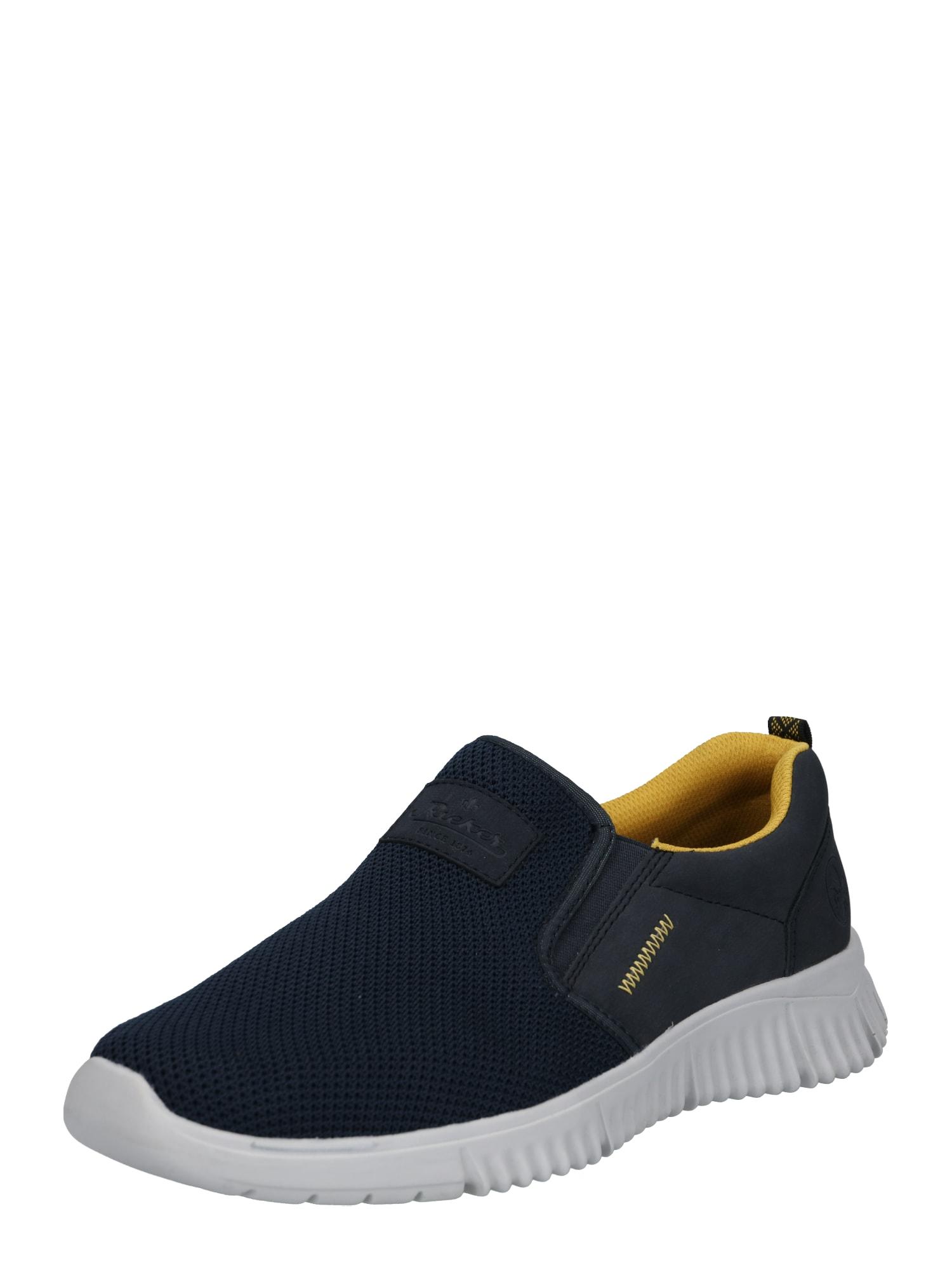 RIEKER Slipper  tmavě modrá / žlutá
