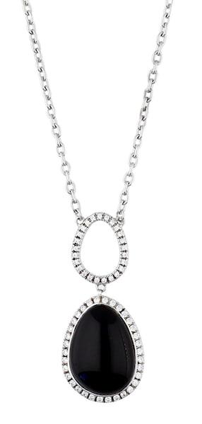 Ketten für Frauen - ESPRIT Halskette Nyxia mit großem Steinanhänger ELNL92444A420 silber  - Onlineshop ABOUT YOU
