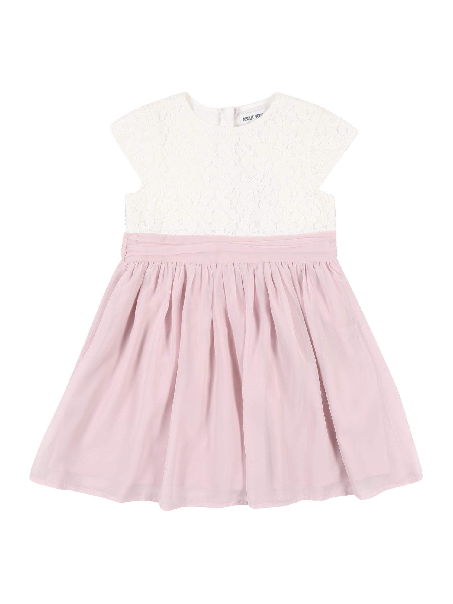 ABOUT YOU Suknelė 'Diana' kremo / ryškiai rožinė spalva