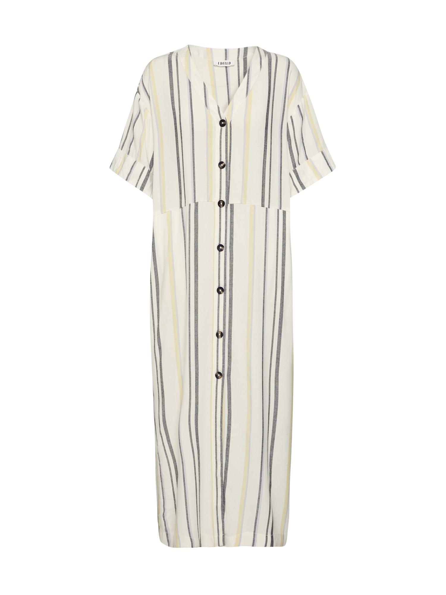 EDITED Vasarinė suknelė 'Yoko' purpurinė / juoda / balta