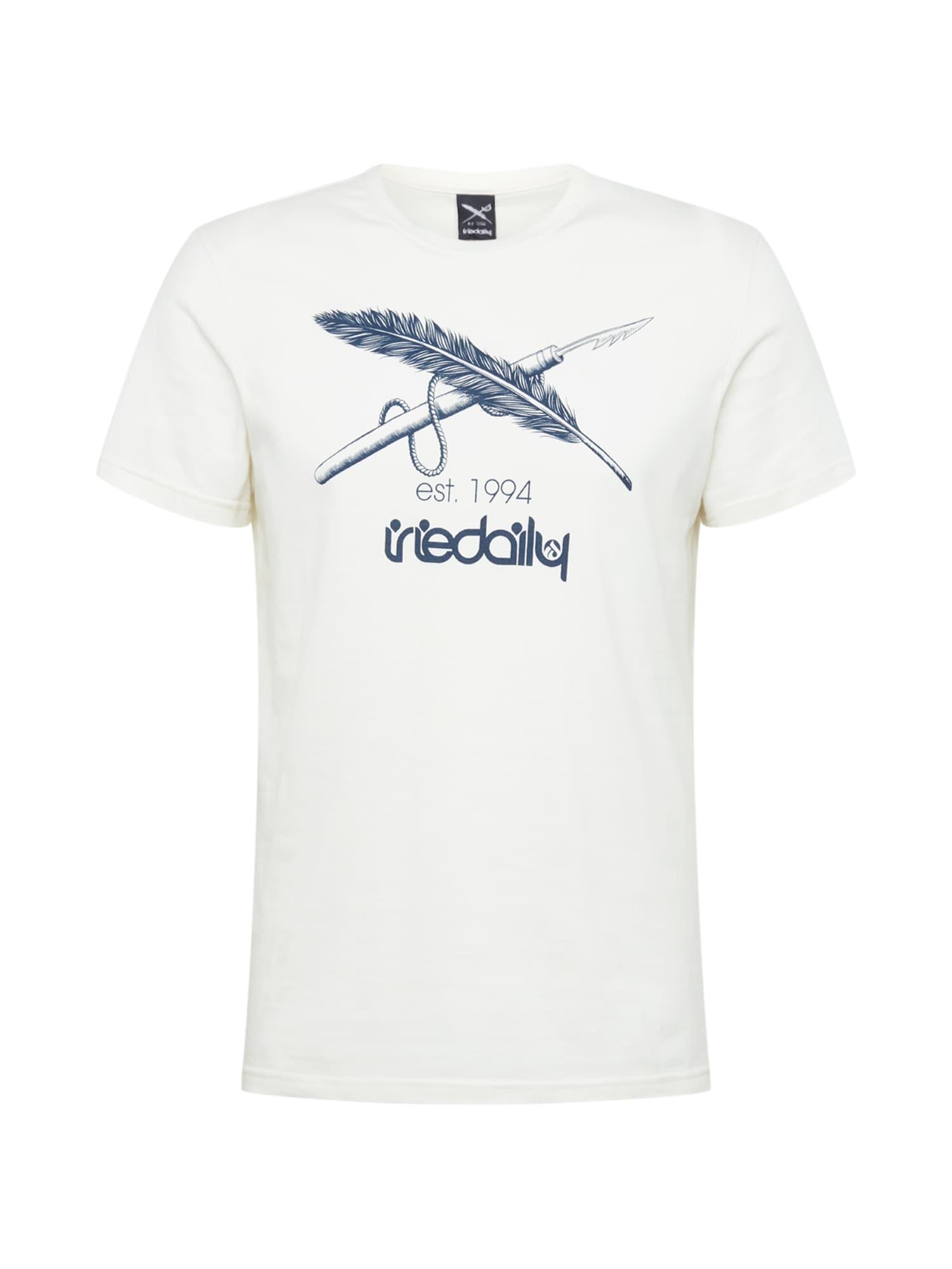 Iriedaily Marškinėliai balta / tamsiai mėlyna
