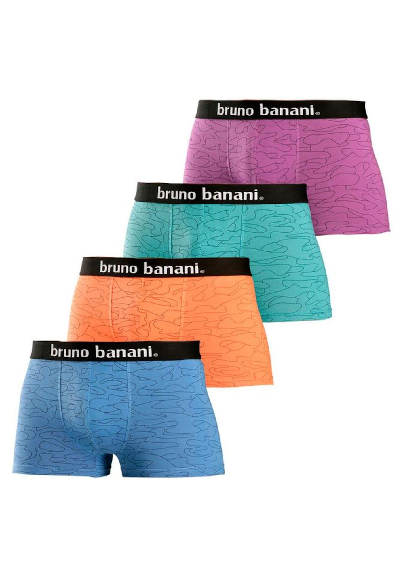 BRUNO BANANI Boxer trumpikės mėlyna / nefrito spalva / purpurinė / oranžinė