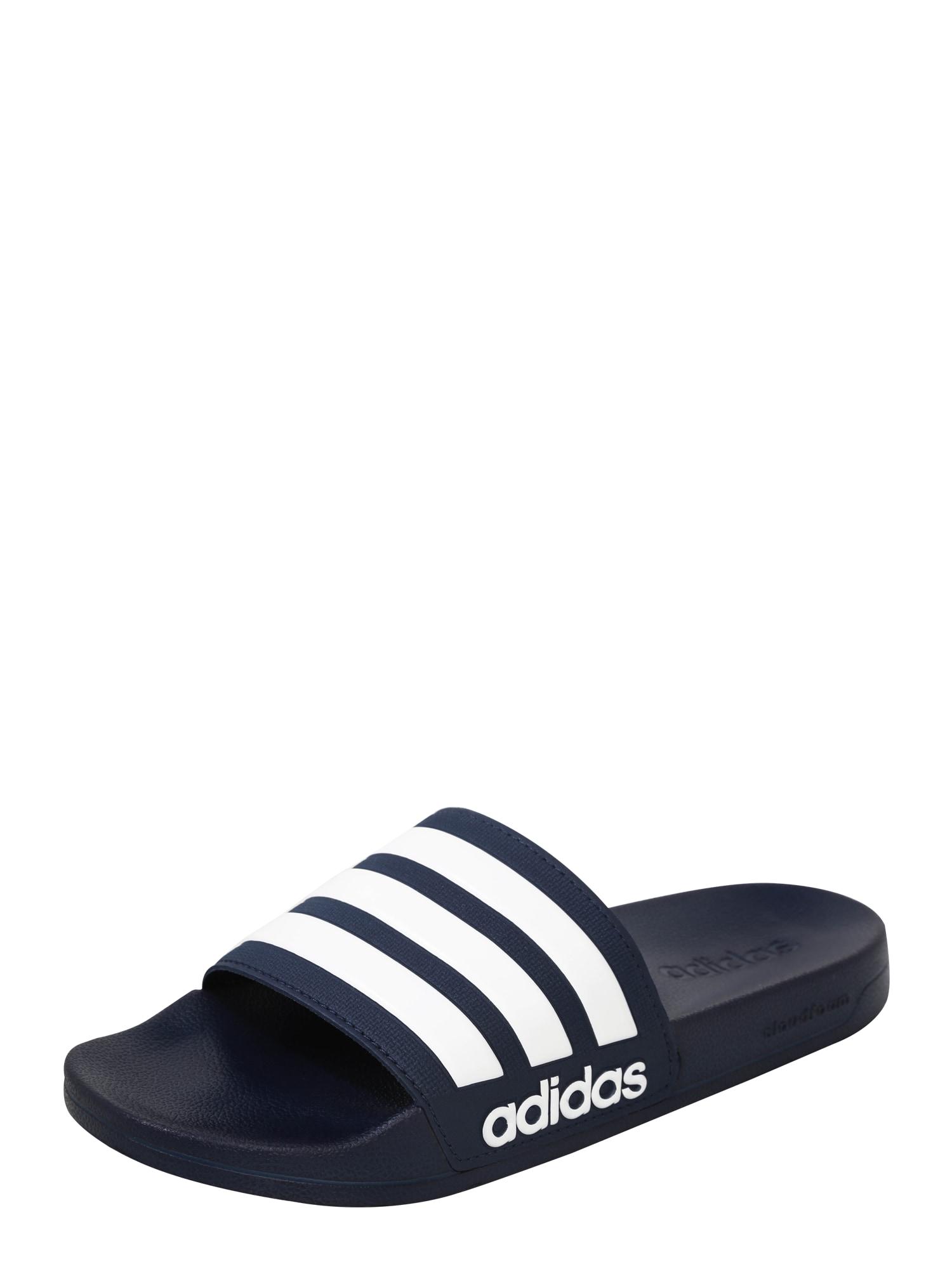ADIDAS PERFORMANCE Sandalai / maudymosi batai 'ADILETTE' balta / tamsiai mėlyna