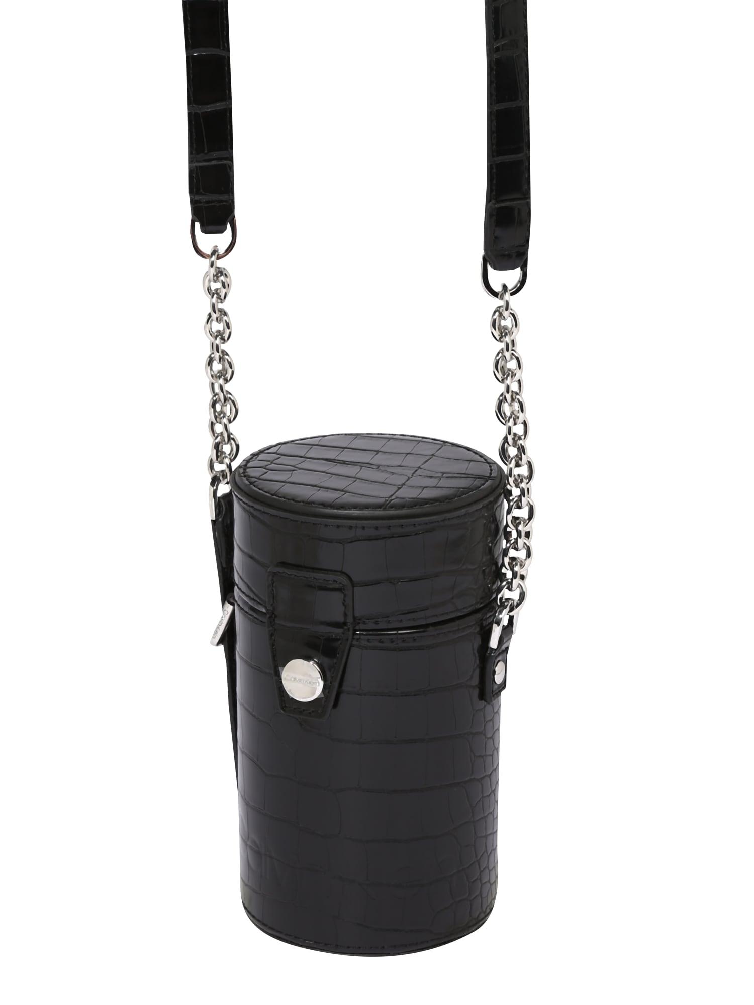 Calvin Klein Torba na ramię 'DRUM CYLINDER CROSSBODY CROC'  czarny