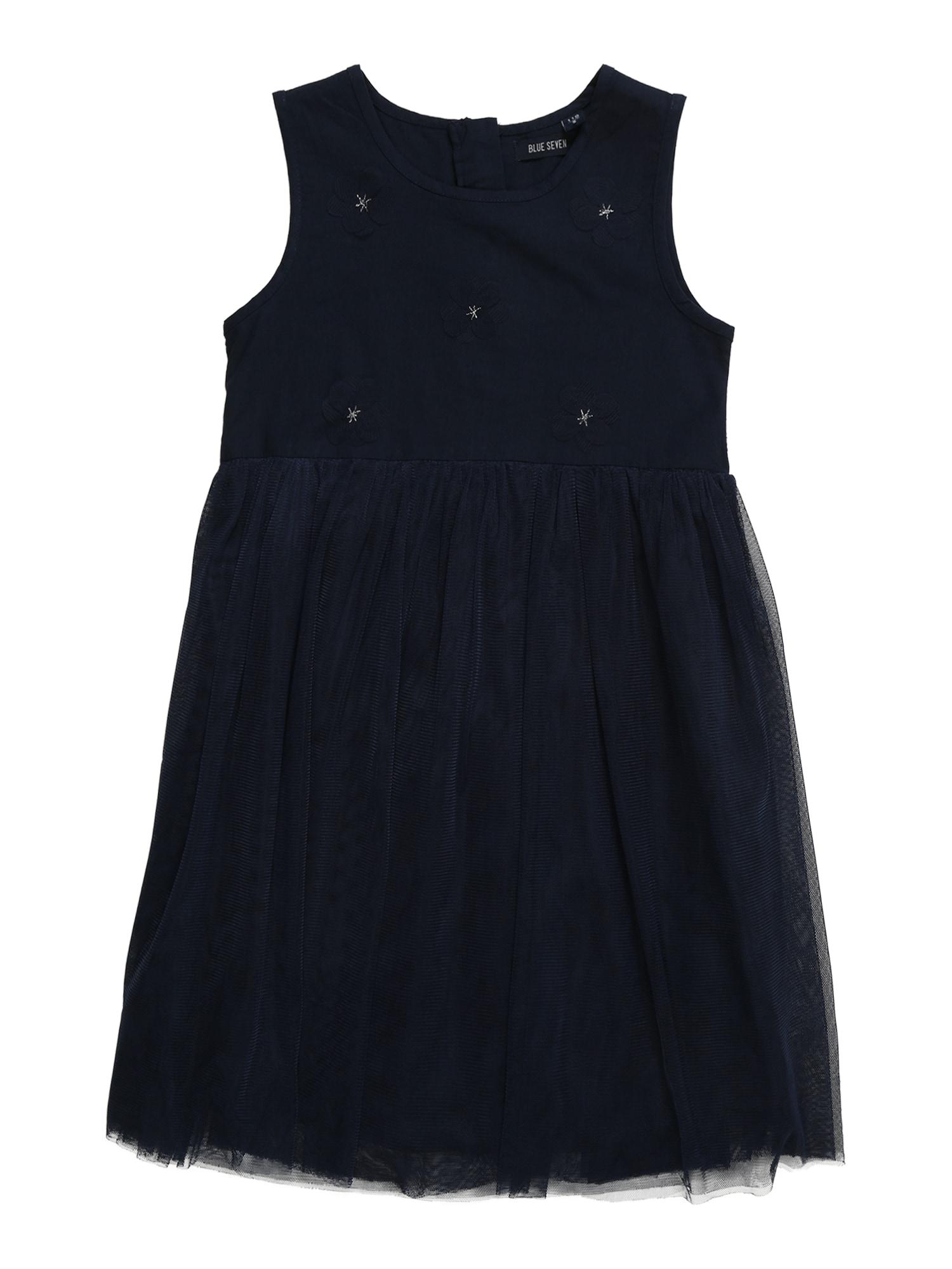 Šaty modrá tmavě modrá mix barev BLUE SEVEN