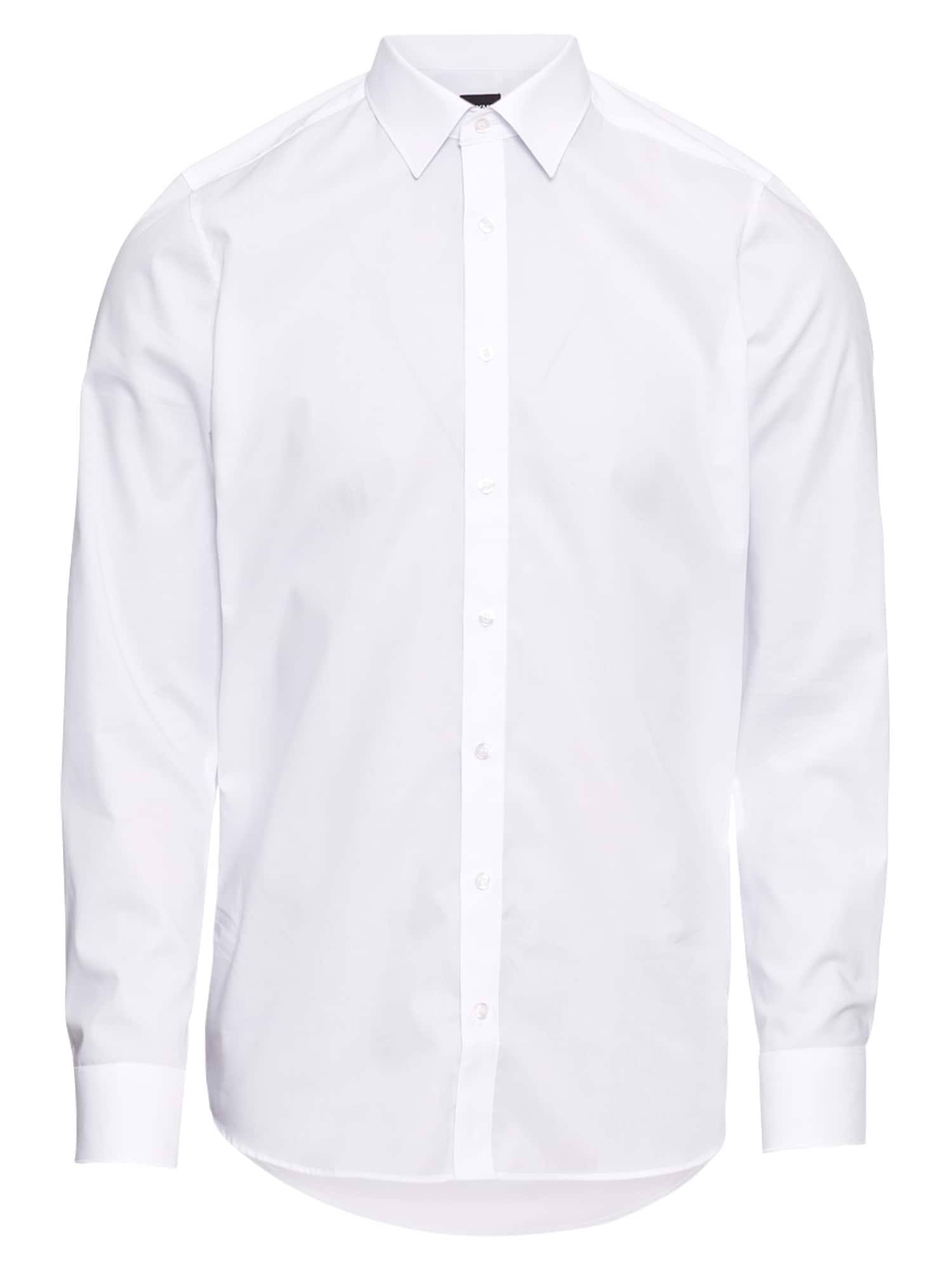 OLYMP Cămaşă business 'Level 5 Uni Pop'  alb