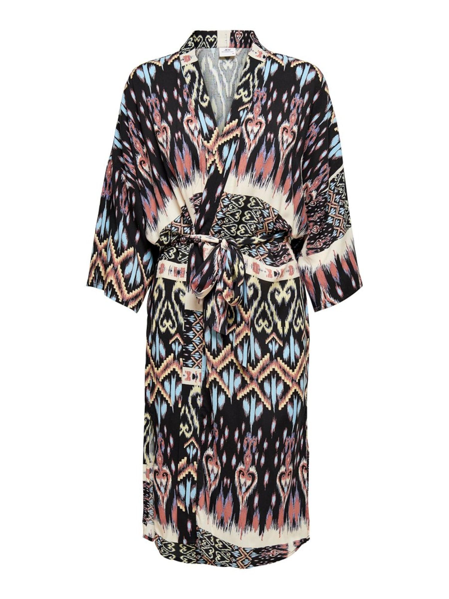 JACQUELINE de YONG Kimono 'Tranis' omarų spalva / mišrios spalvos / juoda / mėlyna / smėlio