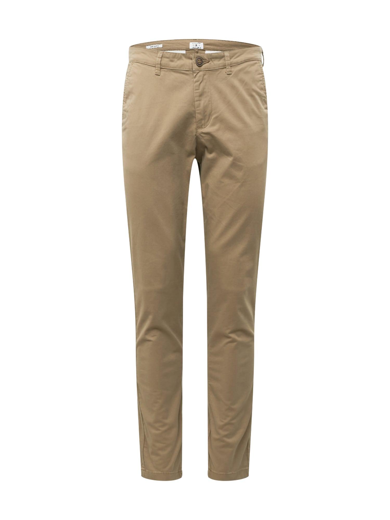 JACK & JONES Chino kalhoty 'Marco Dave'  světle béžová