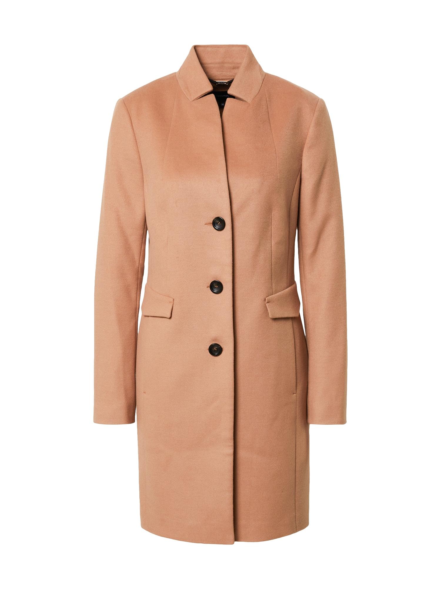 COMMA Demisezoninis paltas pastelinė oranžinė