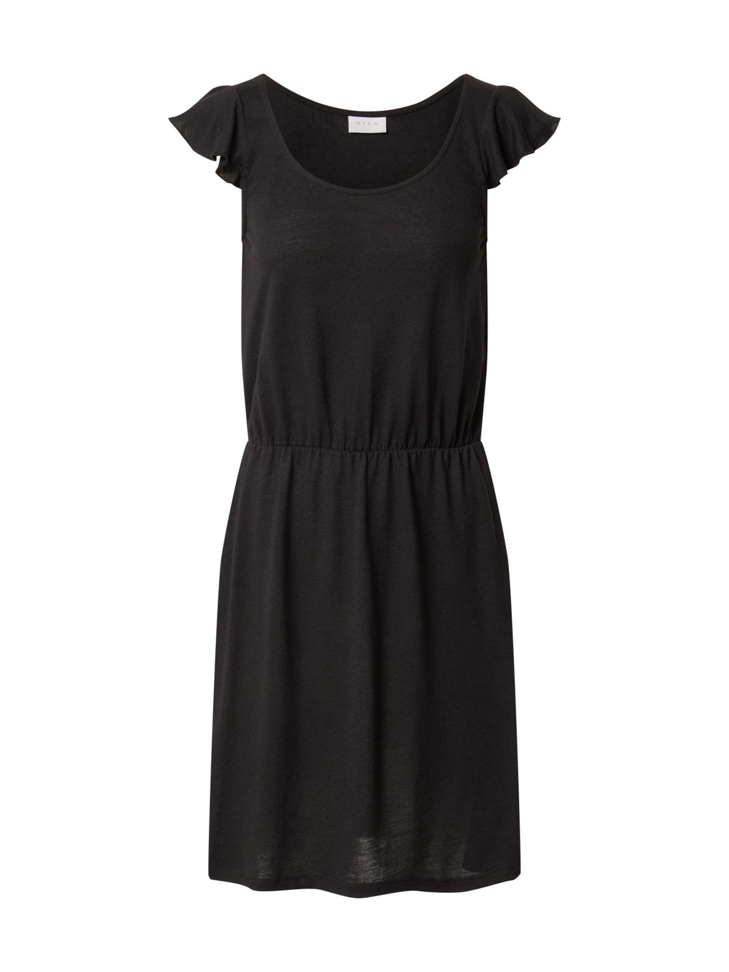 VILA Letné šaty 'VIBARIA'  čierna