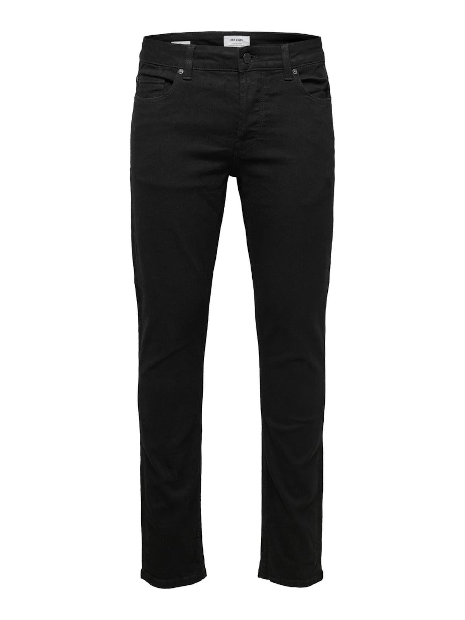 Only & Sons Džinsai juodo džinso spalva