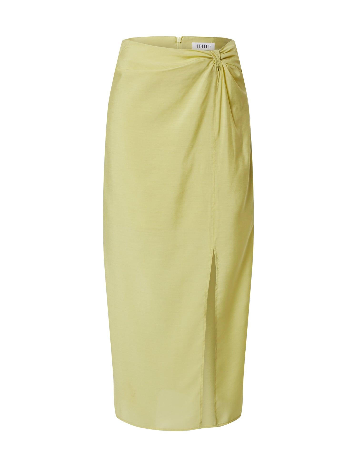 EDITED Sijonas 'Isobel' žaliosios citrinos spalva