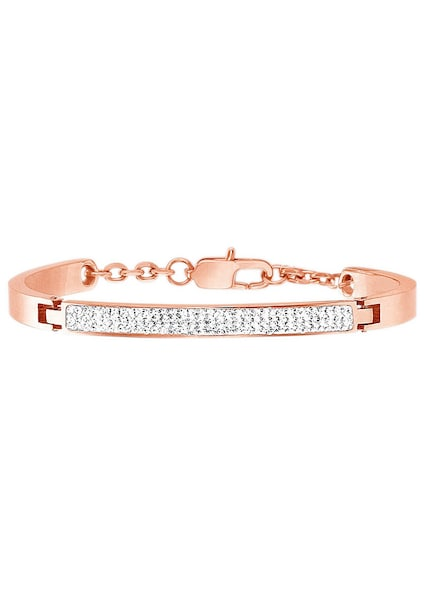 Armbaender für Frauen - FIRETTI Armschmuck Armband mit funkelnden Kristallen rosegold weiß  - Onlineshop ABOUT YOU