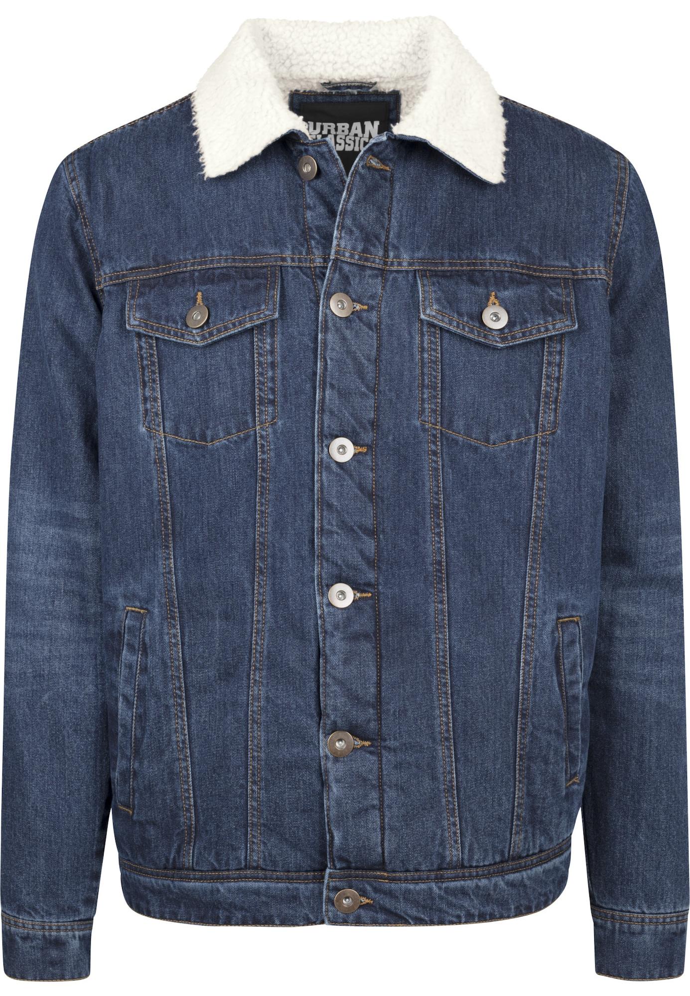 Urban Classics Demisezoninė striukė tamsiai (džinso) mėlyna