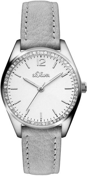 Uhren für Frauen - S.Oliver RED LABEL Quarzuhr ''SO 3322 LQ'' grau silber weiß  - Onlineshop ABOUT YOU