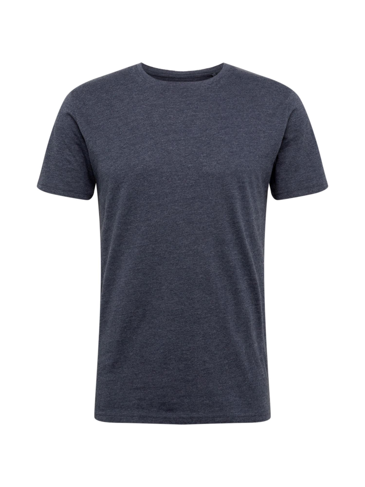 !Solid Marškinėliai tamsiai mėlyna