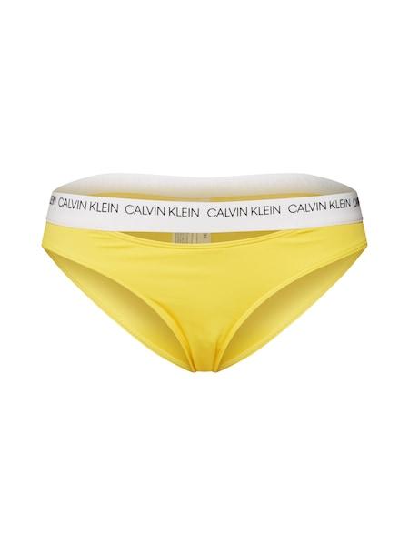 Bademode für Frauen - Calvin Klein Swimwear Bikinihose 'CLASSIC' gelb weiß  - Onlineshop ABOUT YOU