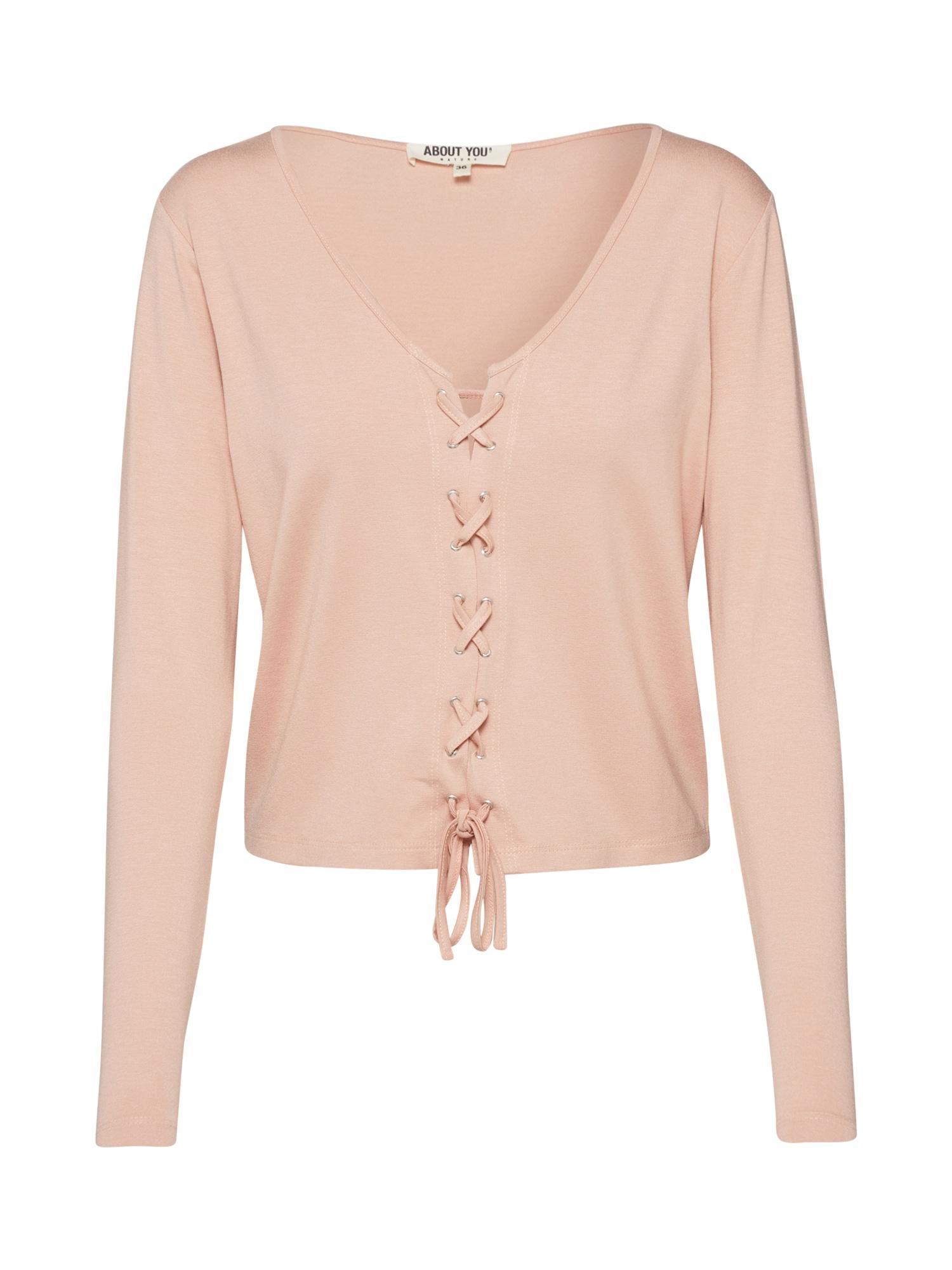 ABOUT YOU Marškinėliai 'Nele' rožių spalva / odos