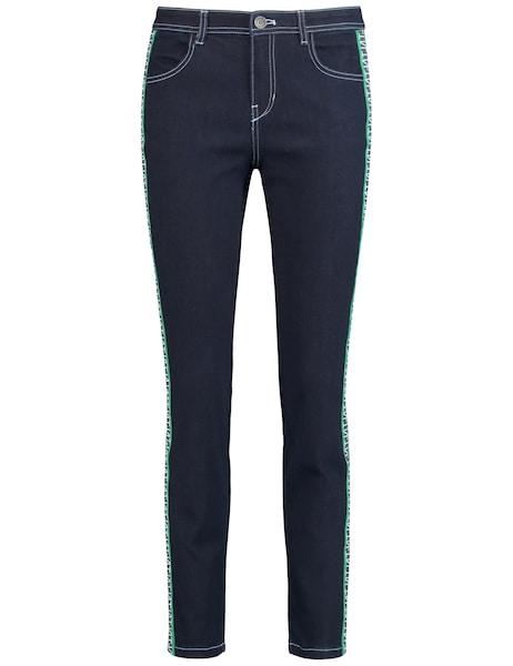 Hosen für Frauen - Jeans › TAIFUN › dunkelblau jade weiß  - Onlineshop ABOUT YOU