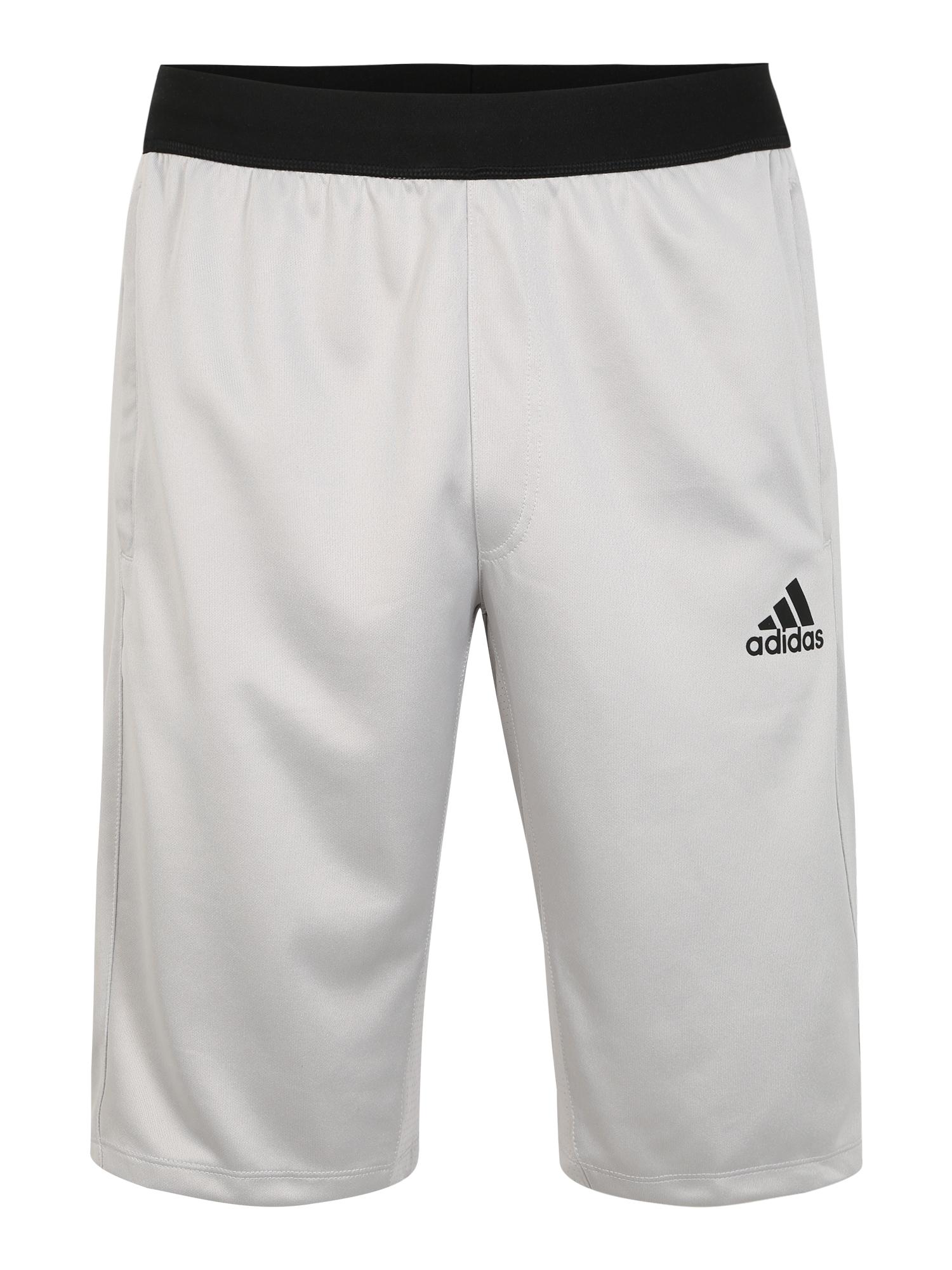 ADIDAS PERFORMANCE Sportinės kelnės 'CITY LONG SHORT' juoda / šviesiai pilka