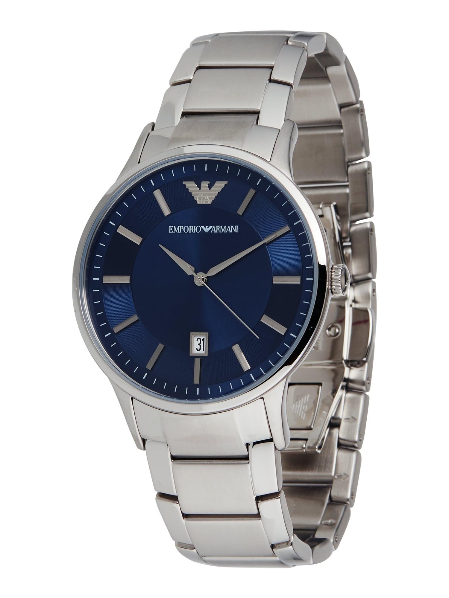 Emporio Armani Analoginis (įprasto dizaino) laikrodis 'RENATO' sidabrinė